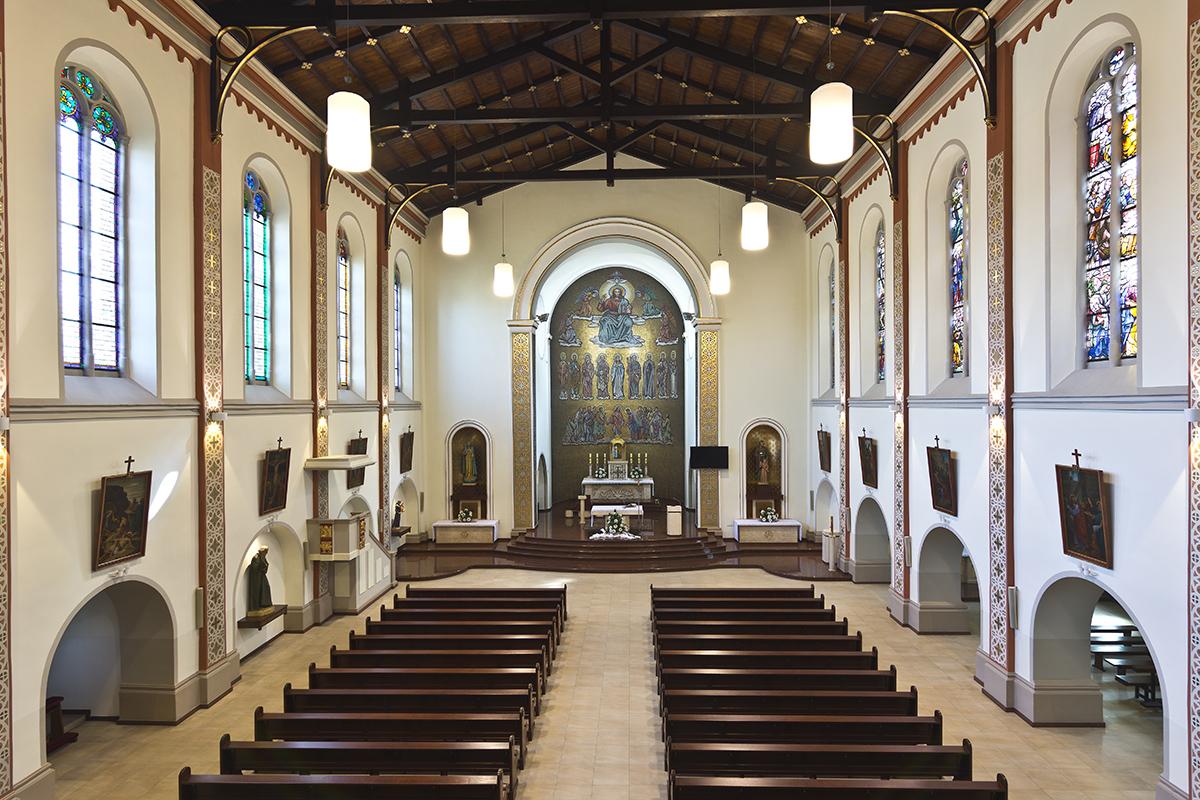 Wnętrze kościoła – sierpień 2016