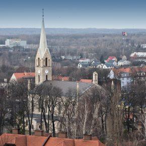 kościół - widok z wieżowca (1)