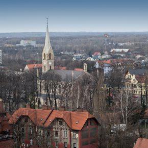 kościół - widok z wieżowca (2)
