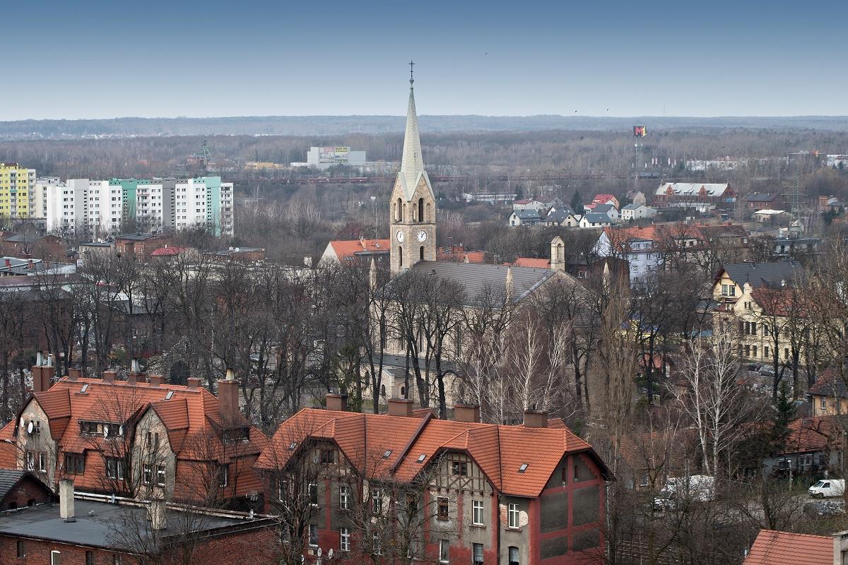 Kościół - widok z wieżowca