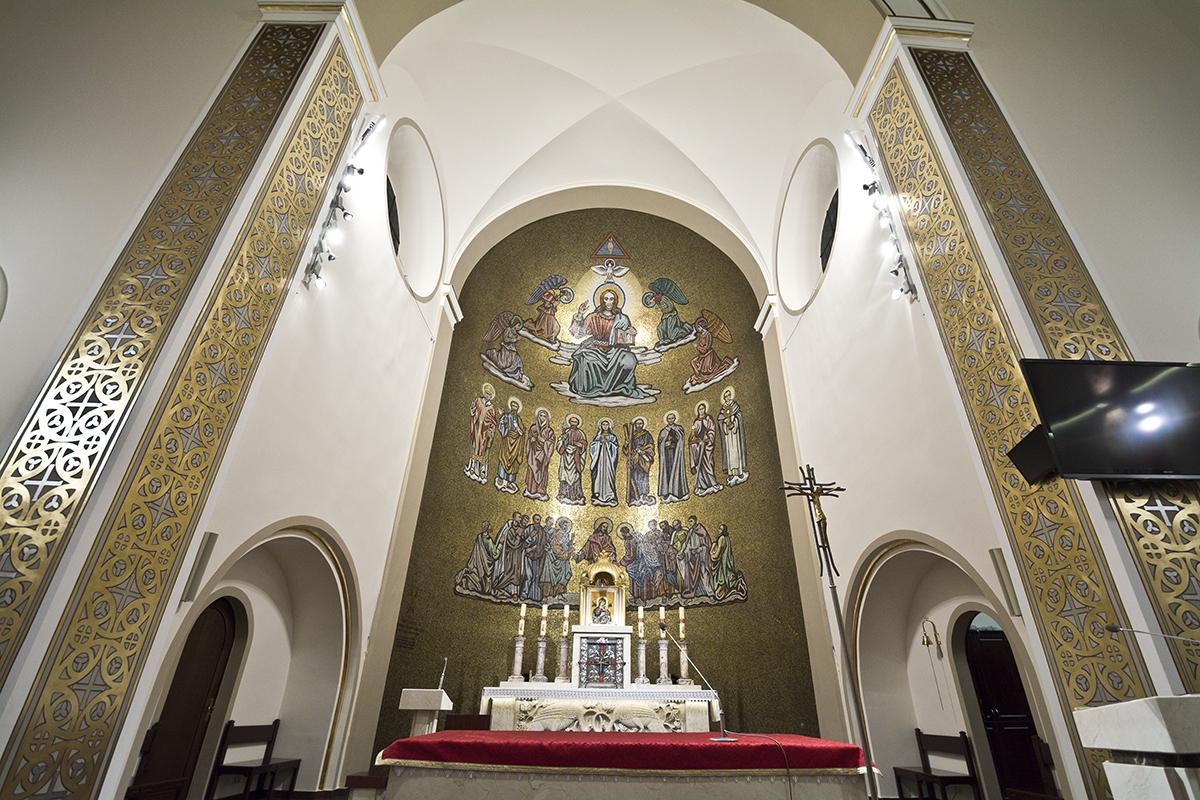 Kościół po malowaniu 2021